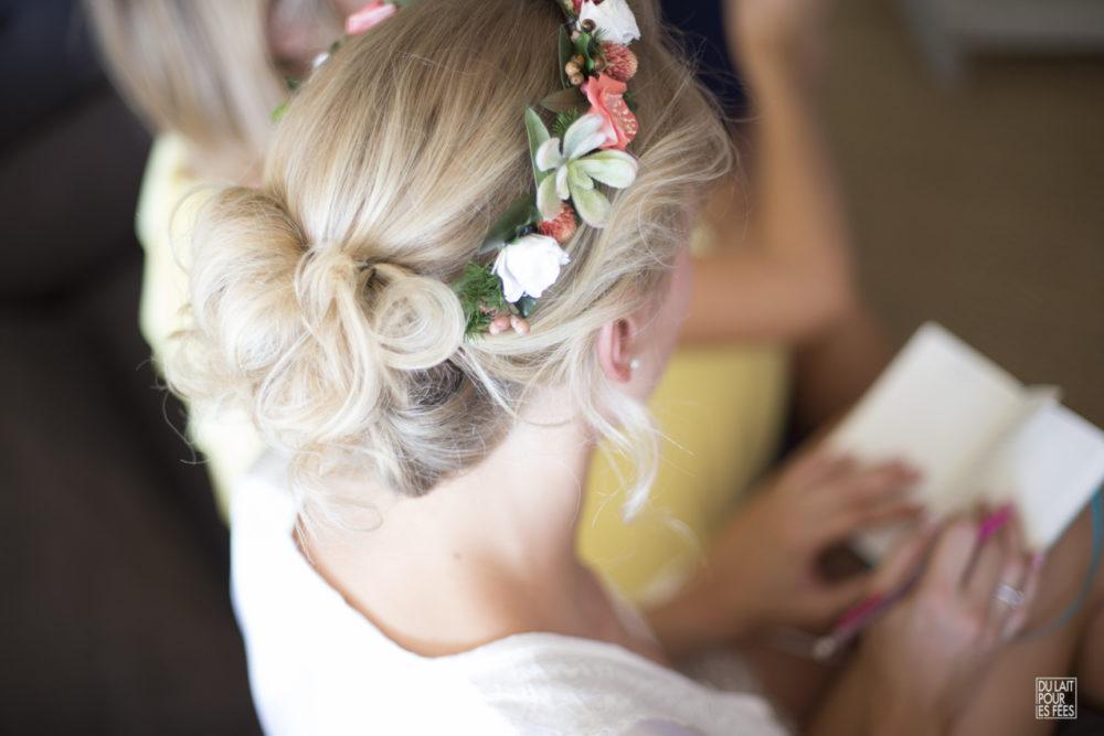couronne de fleur de mariée par atouts fleurs