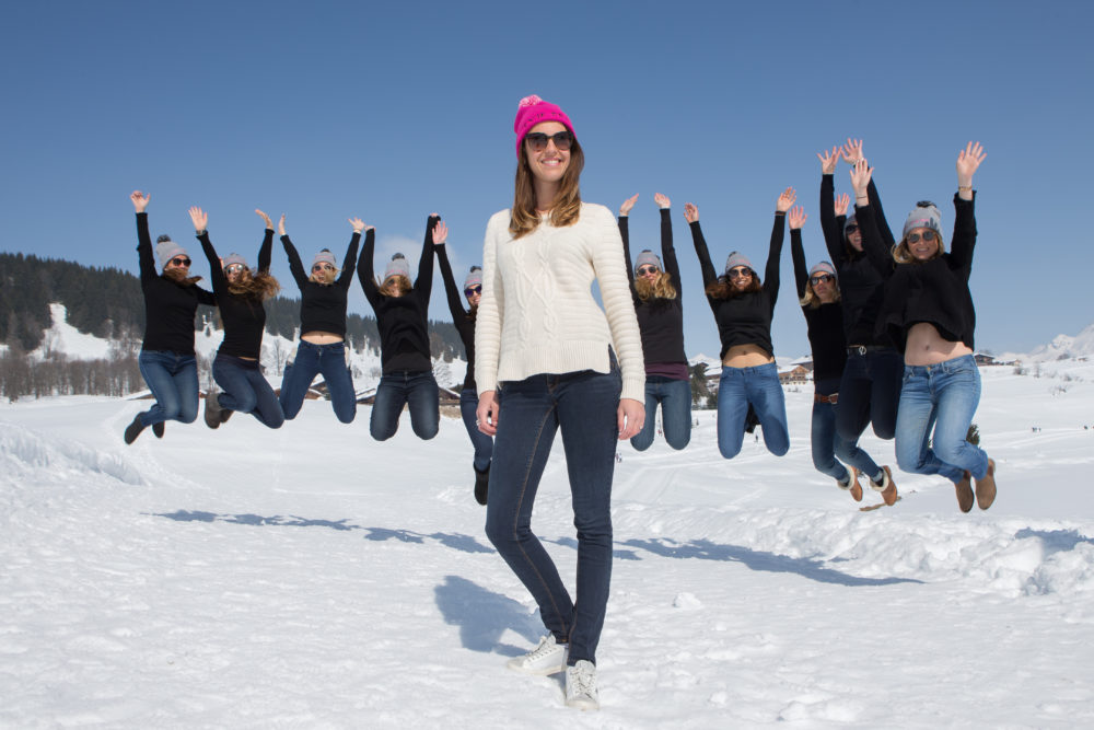 Enterrement de vie de jeune fille à la clusaz en hiver