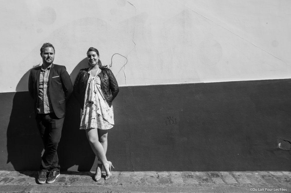 portrait des futurs mariés place du tertre à Paris