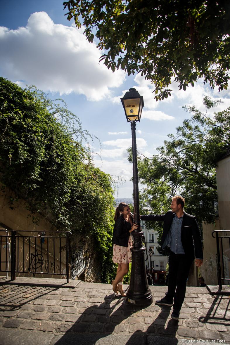 photo professionnelle de couple à Montmartre
