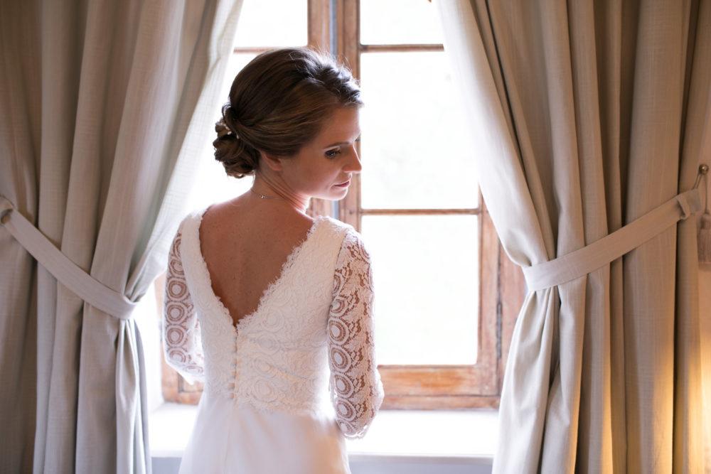 photo mariée dos nu robe lauren création