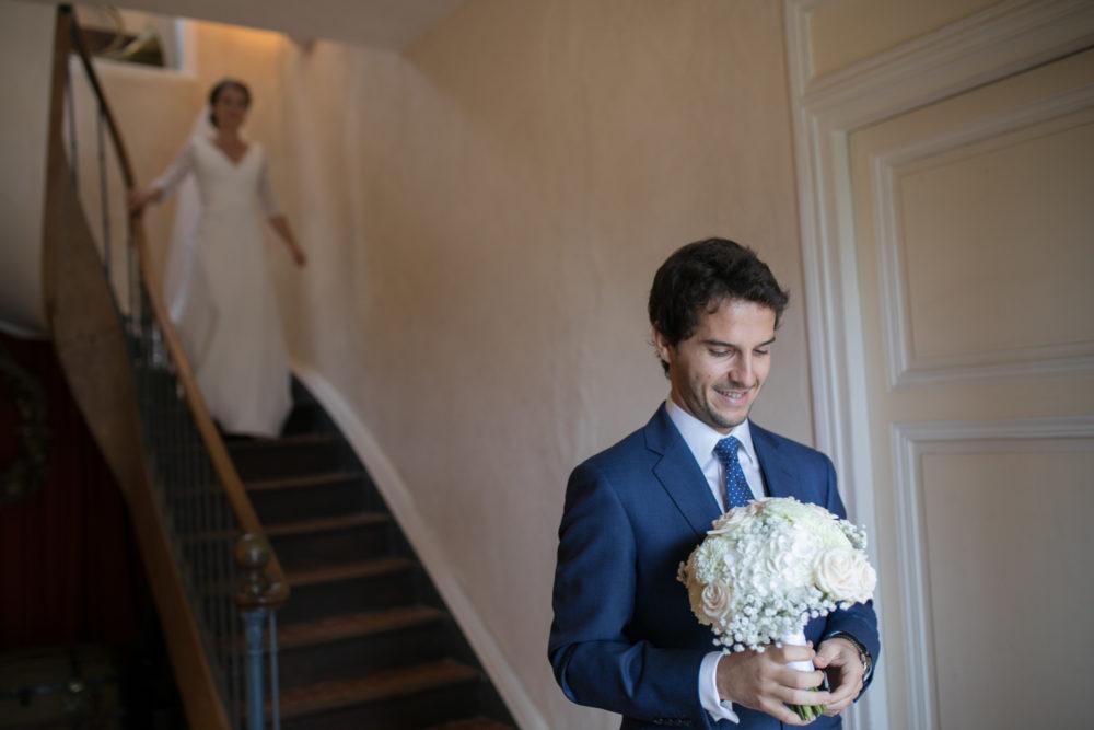 First look des mariés au manoir de Commartin avant d'aller au château de Janzé