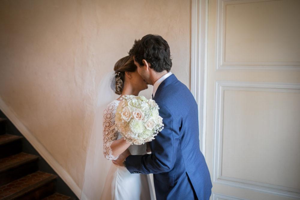 Les mariés se voient pour la première fois au château de Janzé