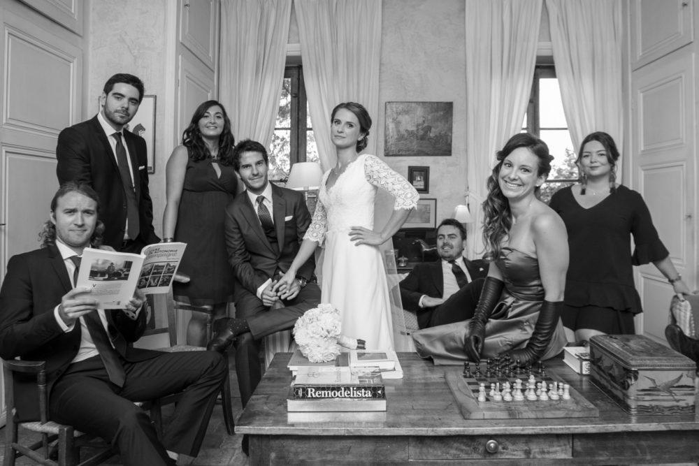 Les mariés et leurs témoins