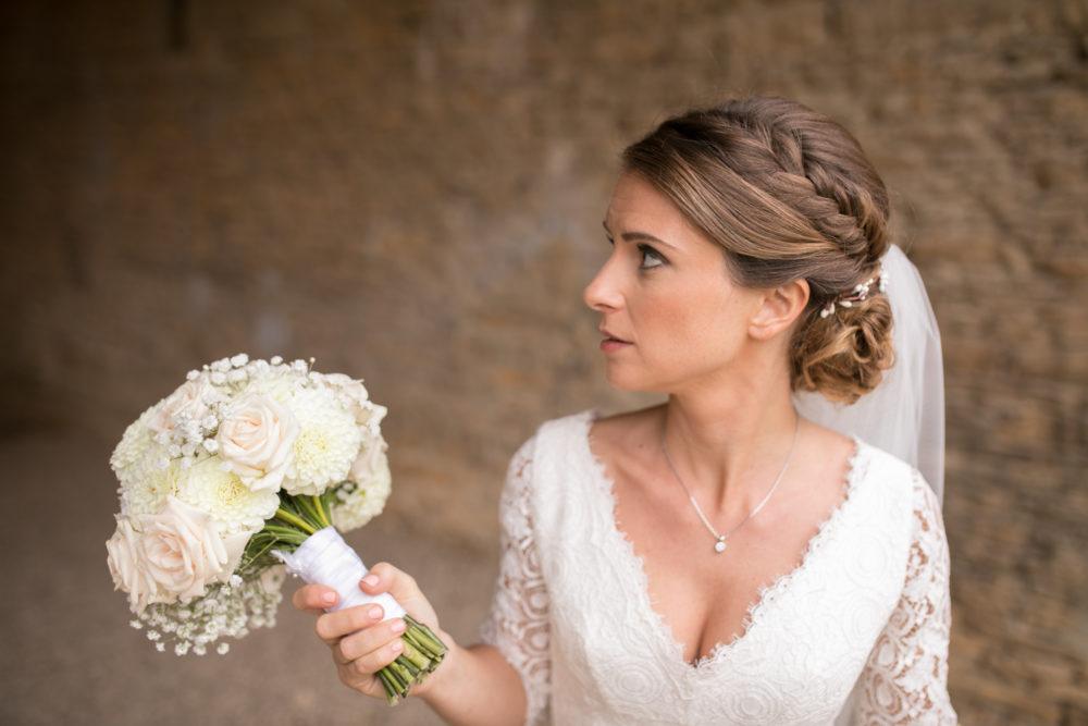 portrait de mariée au château de Janzé