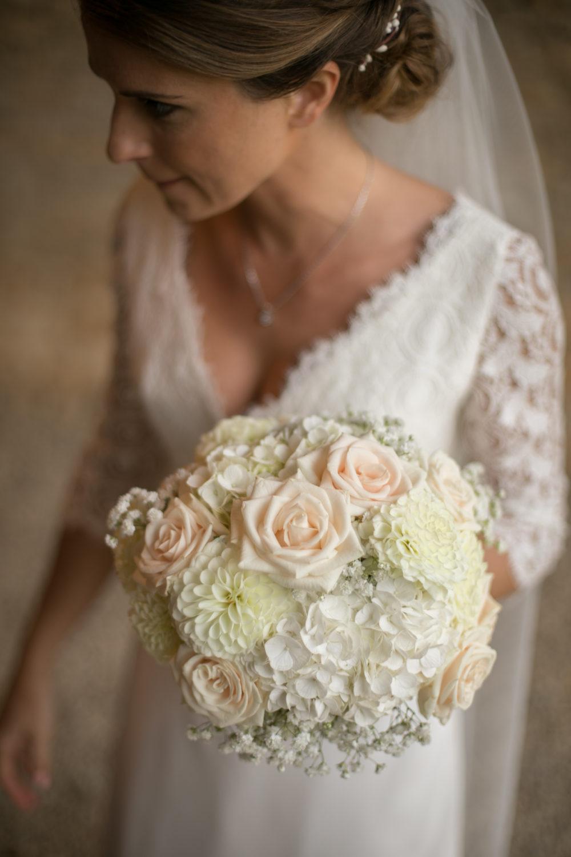 bouquet de la mariée au château de Janzé