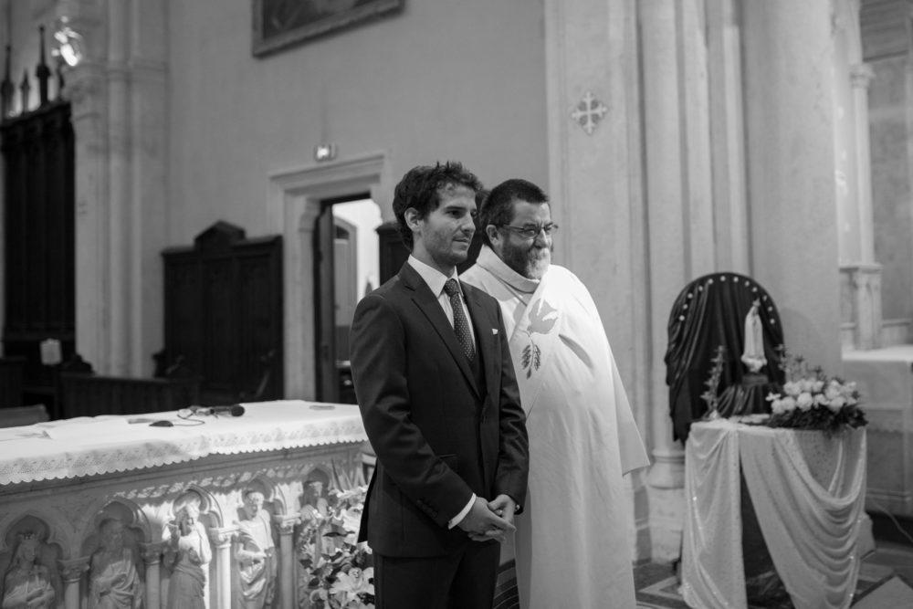 photo de mariage à l'église de chazay d'azergues