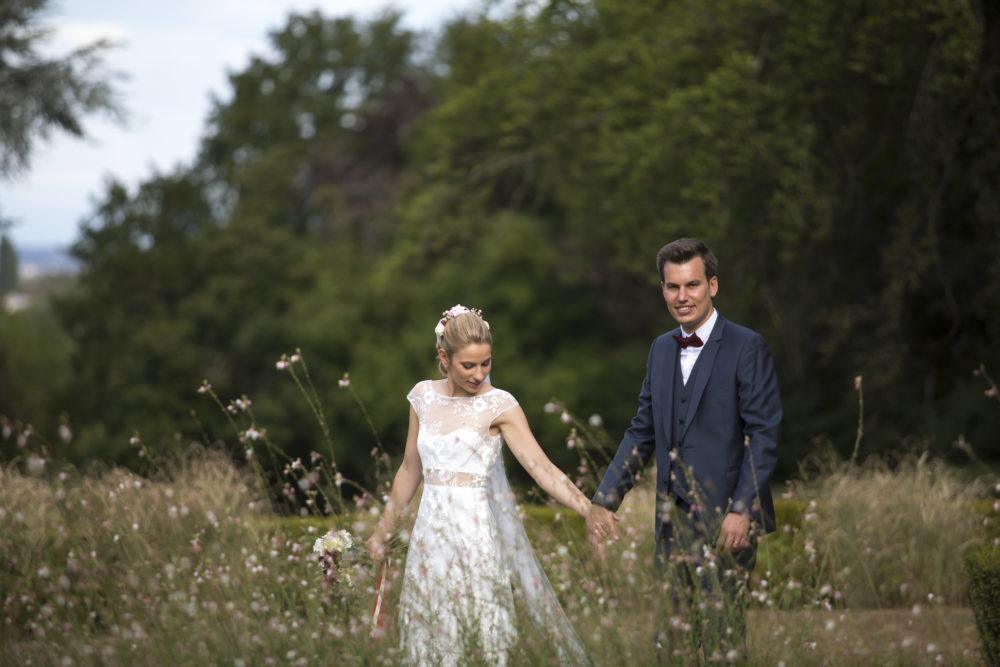 photo de mariés au Château de Bionnay