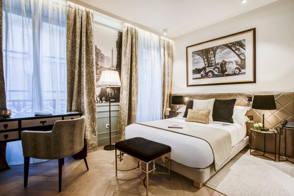 chambre rénovée de l'hôtel royal saint honoré paris 8