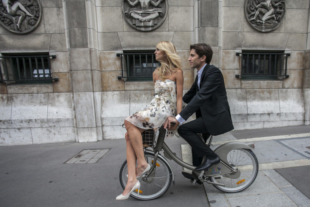 Photo de couple en velib