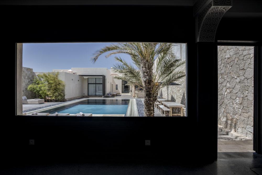 La piscine du palais Rhoul Dakhla