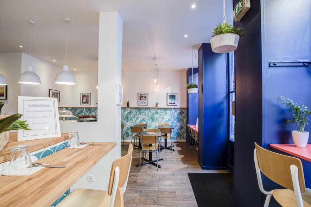 détail de la salle du restaurant Skip Jack. Photo professionnelle part Aexandre Moulard