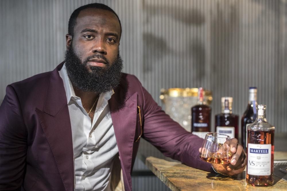 Tay Mitch ambassador of Martell Cognac