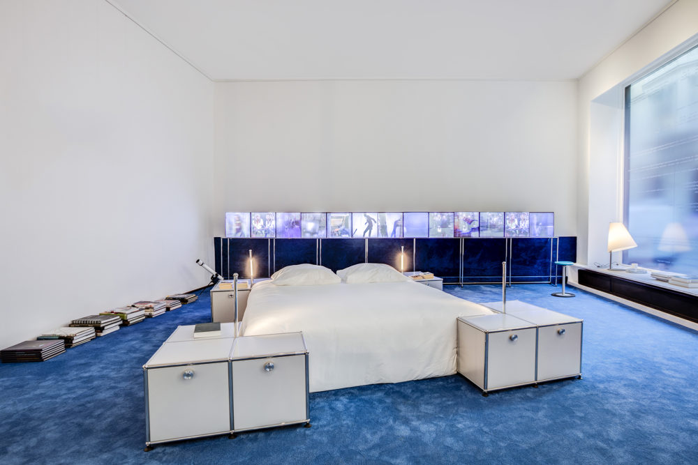 lit imaginé par la marque COPERNI pour USM mobilier modulaire